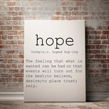 Hope definition Printable poster Printable art Wall art Instant download modern Home decor Print set Name Definition INSPIRATIONAL QUOTE