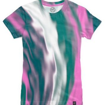 Colorful cold flames abstraction Women's T-Shirts by Natalia Bykova | Nuvango