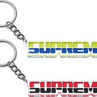 Supreme Embossed Keychain - Red / Black