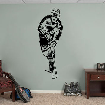 Wall Decals Sport  Hockey Player Club Puck Bandy Athlete Sports Game Team Sportsman Sporting Event Home Decor Vinyl Decal Sticker  ML123