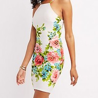 THE VINTAGE SHOP FLORAL PRINT BODYCON DRESS