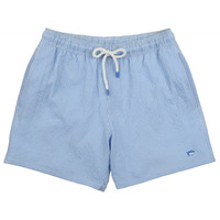 Seersucker Swim Trunks in Ocean Channel by Southern Tide