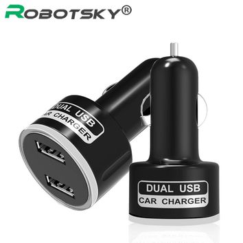 Car-Charger For Samsung S8 Huawei P8 Lite Phone Charge 2 Port Dual USB Car Charger Adapter 5V 2.1A Quick Charging For iphone 6 5