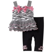 Vitamins Baby-girls Infant Zebra 2 Piece Legging Set $30.00