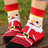 Red Santa Claus Knitted Socks