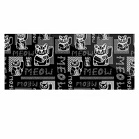 "Jane Smith ""Meow Repeat"" Black White Luxe Rectangle Panel"