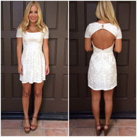 Snow Queen Shimmer Dress - IVORY