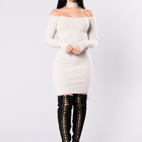 Sophisticated Mama Dress - Sand