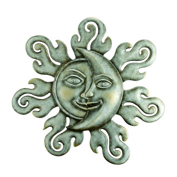 SPI Home Collection Sun & Moon Half Face Wall Plaque