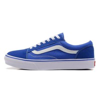 Vans Old Skool Low Top Men Flats Shoes Canvas Sneakers Women Sport Shoes White Blue