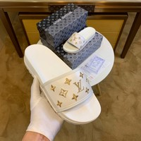 Louis Vuitton LV White Flip Flop Sandal Men Women Slipper