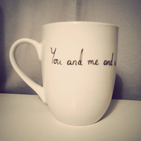 You and me and a nice cup of tea mug handdrawn by Mr by MrTeacup