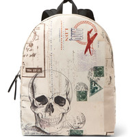 Alexander McQueen - Letters From India Printed Canvas Backpack