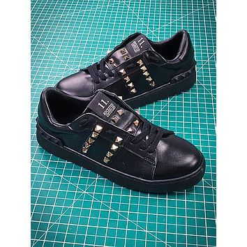 Valentino Rockstud Untitled Black Sneakers