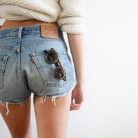 ALL SIZES Levis High Waisted Cutoff Distressed Denim Shorts