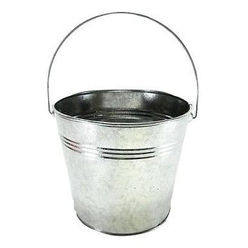 3pc New Ribbed Buckets w handles 1 qt pail flower pot garden wedding galvanized