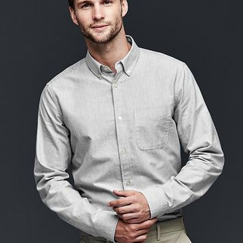Gap Men Heathered Oxford Shirt
