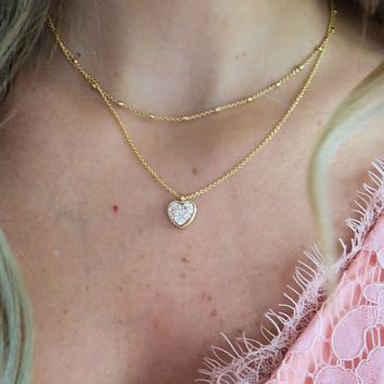 Oh My Heart Necklace: Gold