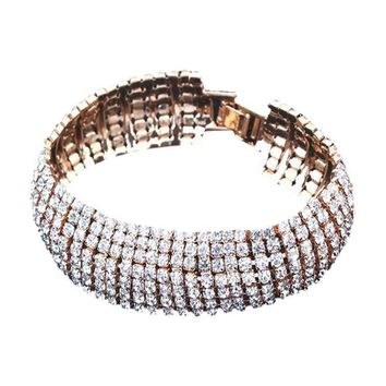 Rhinestone Stretch Bracelet for Wedding -  Prom -  Party Bracelet - Free Shipping