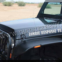 Zombie Response Team JEEP Hood sticker set by thatstickerguy