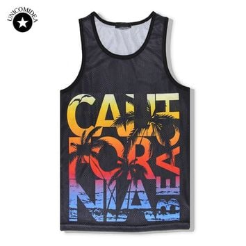 UNICOMIDEA T-shirts For Men Summer Tank Top Sleeveless Funny T Shirts 3d Print Fitness Brand Clothing Tee Shirt Homme Large Size