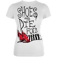 Wizard of Oz -Shoes to Die For Juniors T-Shirt