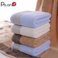 Fashion Adult Cotton  Big Towel Multi-color Hotel Home Bath Towel Beauty Solid Towel Quick-Dry High Quality Gift Towel