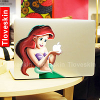 Disney Ariel Little Mermaid Decal for Macbook Pro, Air or Ipad Stickers Macbook Decals Apple Decal for Macbook Pro / Macbook Air 13125