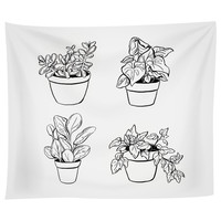 Desk Plants Tapestry