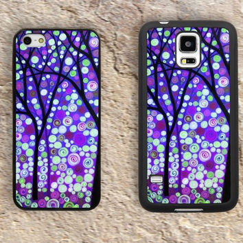 Watercolor Tree art iPhone Case-Purple Dreaming Tree iPhone 5/5S Case,iPhone 4/4S Case,iPhone 5c Cases,Iphone 6 case,iPhone 6 plus cases,Samsung Galaxy S3/S4/S5-287