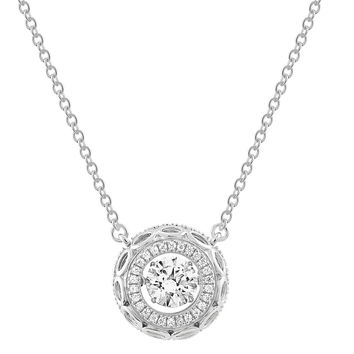 Gems In Motion Sterling Swarovski CZ Circle Pendant