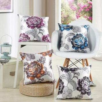 BZ020 Creative Lumbar Pillow Floral shaped without inner decorative throw pillows chair seat home decor home textile gift