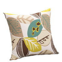 (1piece/lot) cotton printed leaf decorativos throw pillow covers home decor for sofa cushion cover 50x50cm off 15%