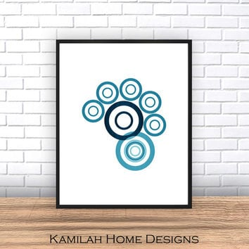 Geometric Poster Large, Printable Art, Mid Century Modern, Circles Print, Geometric Art, Wall Decor, Abstract Art Print, Scandinavian Art