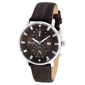 Kenneth Cole KC2709 Men's New York Brown Dial Brown Leather Strap Watch
