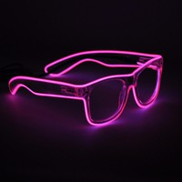 Light Up Neon EL Wire Rave Glow LED Sunglasses Light Costumes Eyeglasses For Party Festivals DJ Christmas Gift Flashing Glasses