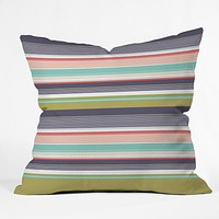 Wendy Kendall Multi Stripe Throw Pillow