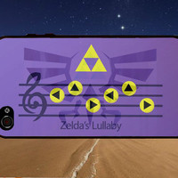 Zelda Lullaby Symphony- for iPhone 4/4s/5/5c/5s, Samsung S3/S4 case cover, gift under 25