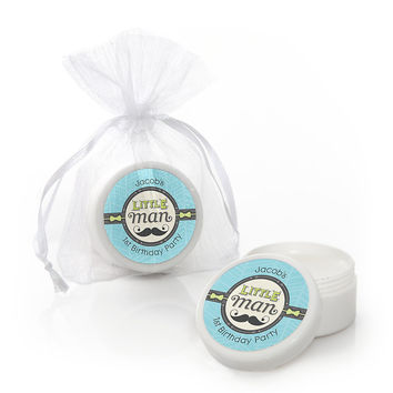 Dashing Little Man - Personalized Birthday Party Lip Balm Favors