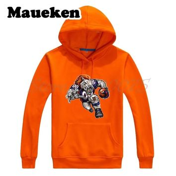 Men Hoodies Strong Denver Blistering Sweatshirts Hooded Thick Lace-up for Broncos fans gift Autumn Winter W17102206