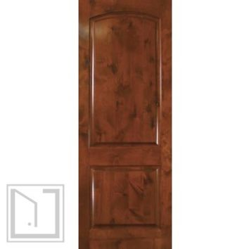 Slab Exterior Interior Single Door 96 Wood Knotty Alder 2 Panel Solid