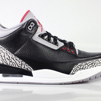 Air Jordan Men's Retro 3 III Black Cement 2011