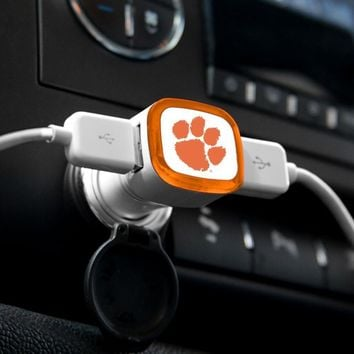 NCAA Clemson Tigers USB 2-Port Car Charger