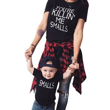"""You're Killing Me Smalls"" T-Shirt Family Matching Shirts Outfits Parent Child Shirts"