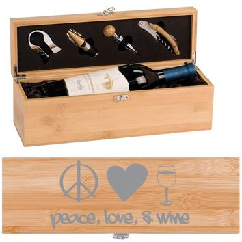 Peace Love Wine Box - One Bottle Set with Tools
