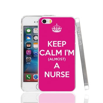 Keep calm I'm a Nurse Cover cell phone Case for iPhone 4 4S 5 5S SE 5C 6 6S 7 Plus