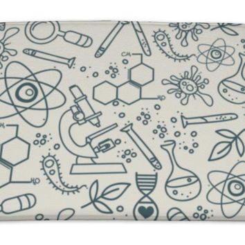 Bath Mat, Pattern For Science In Hand Drawn Doodle Style