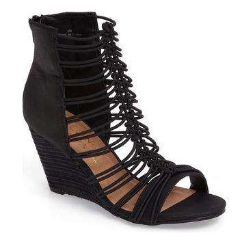 Coconuts by Matisse Parade Black Stacked Wedge