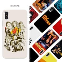 BINYEAE PULP FICTION Hard White Phone Case Cover Coque Shell for iPhone X 6 6S 7 8 Plus 5 5S SE 4 4S 5C