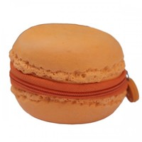 ORANGE MACAROON COIN PURSE. - NEW